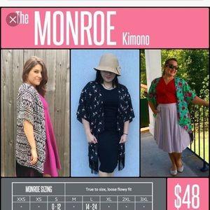 COPY - Lularoe Monroe Fringe Kimono